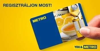 Igényeljen METRO kártyát!